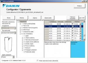 Altherma aplikacja do nastaw serwisowych
